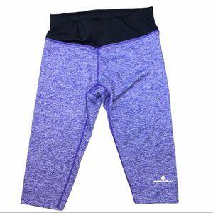 RONHILL Purple/Black Running Capri Size Small EUC